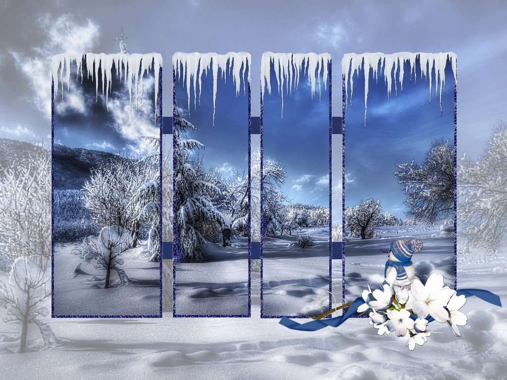 Hiver fond d ecran neige for Fond ecran gratuit pour ordinateur hiver