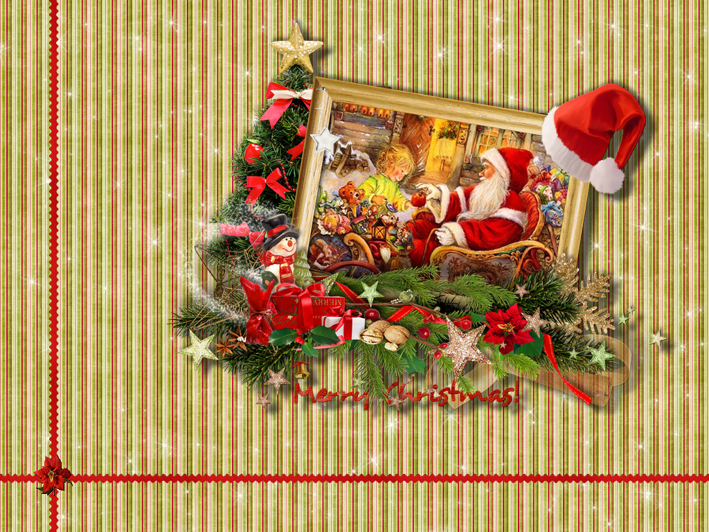 merry christmas dans fond d'écran